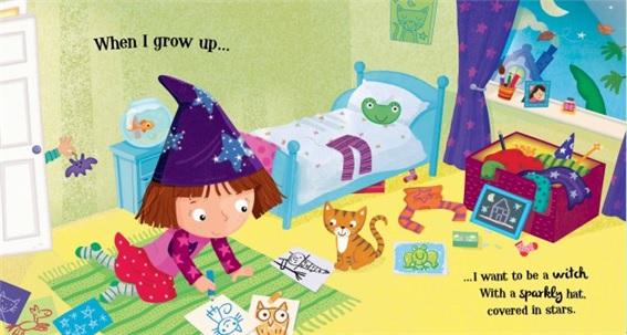 等我长大了,我想做一个可爱的女巫,就像我妈妈那样.